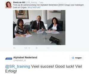 tweet Alphabet SR training