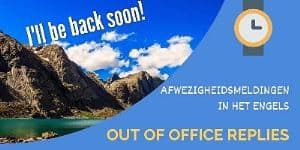 Engelse out of office replies