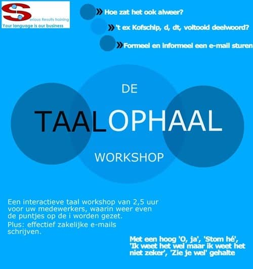 taalophaal workshop infographic