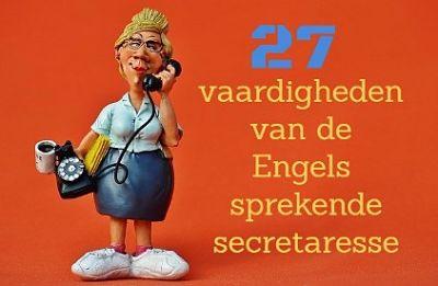 vaardigheden Engelstalige secretaresse