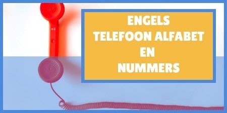 Engels telefoonalfabet en nummers