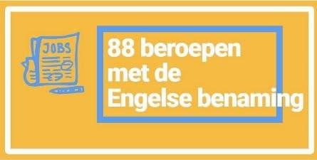 88 beroepen in het Engels-woordenlijst-SR training